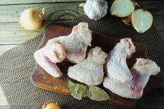 chicken raw wings Стоковое Фото