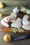 chicken raw wings Стоковое Изображение