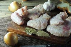 chicken raw wings Стоковые Фотографии RF