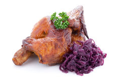 Chicken and red cabbage Royalty Free Stock Photography