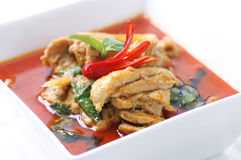Chicken red curry. Royalty Free Stock Photo