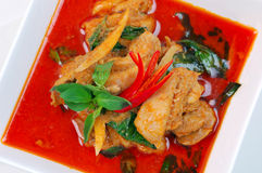 Chicken red curry. Royalty Free Stock Images