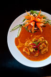 Chicken red curry. Spicy thai food Stock Photos