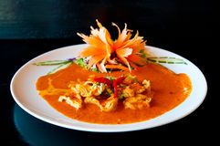 Chicken red curry. Spicy thai food Stock Photography