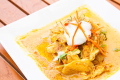Chicken red Curry Stock Images