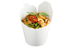 Chicken red curry to go Stock Photography