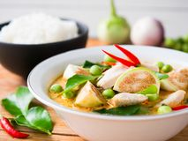 Chicken red curry traditional  Thai food. Royalty Free Stock Image