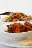 Chicken Rendang Stock Photo
