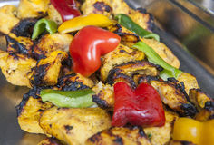 Chicken reshmi kebab at an indian restaurant Royalty Free Stock Image