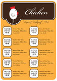 Chicken Restaurant Menu Royalty Free Stock Photos