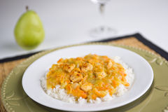 Chicken and rice Stock Photo