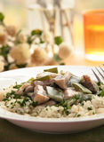 Chicken with rice Royalty Free Stock Images
