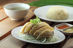Chicken Rice. A set of steam chicken rice Royalty Free Stock Images