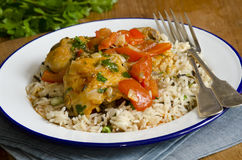 Chicken with rice Royalty Free Stock Photography