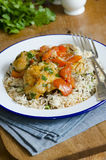 Chicken with rice Royalty Free Stock Photos