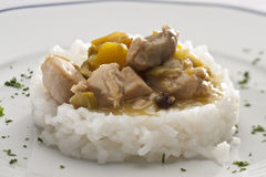 Chicken and rice Stock Photos