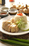 Chicken rice. Malaysia chinese steam chinken rice Royalty Free Stock Image