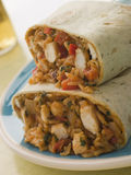Chicken Rice And Cheese Burrito Royalty Free Stock Image