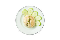 Chicken rice asian food Stock Image