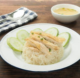Chicken rice asian food Stock Images