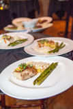 Chicken, Rice and Asparagus Royalty Free Stock Image