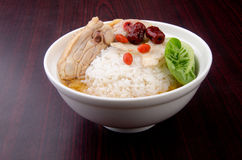 Chicken Rice on background, asia food Royalty Free Stock Photo