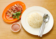 Chicken Rice on the background, asia food Royalty Free Stock Image