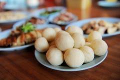 Chicken rice ball Royalty Free Stock Photo