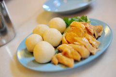Chicken rice ball Stock Images