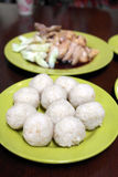 Chicken rice ball Royalty Free Stock Photo