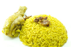 Chicken Rice Curry, indian food Royalty Free Stock Photography