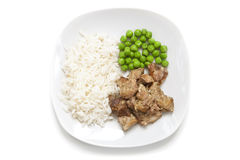 Chicken with rice and green peas Royalty Free Stock Photos