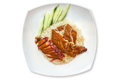 Chicken rice hainan style Royalty Free Stock Photo