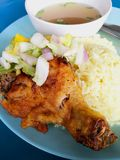 Chicken rice in malay culture. Chicken rice is a popular food in malaysia royalty free stock photography