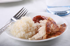 Chicken and rice meal Stock Photo