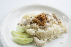 Chicken rice meal dinner eat tasty Thai concept Royalty Free Stock Photos