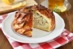 Chicken and rice pie Royalty Free Stock Images