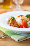 Chicken and rice salad Royalty Free Stock Photography