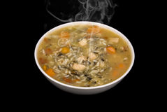Chicken and rice soup Royalty Free Stock Image