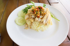Chicken with Rice. Steam Chicken with Rice in Thailand food Stock Photos