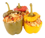 Chicken And Rice Stuffed Roasted Sweet Peppers Royalty Free Stock Photo