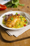 Chicken with rice Stock Photos