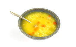 Chicken rice and vegetable soup Stock Photography