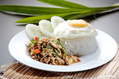 Chicken with rice and vegetables Stock Photography