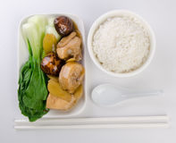 Chicken with rice and vegetables Royalty Free Stock Photography