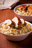 Chicken Rice And Vegetables Stock Photography