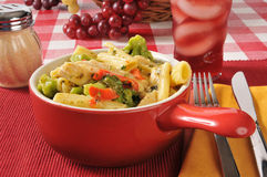 Chicken with rigatoni Royalty Free Stock Photos