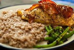 Chicken with risotto Stock Photography