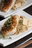 Chicken with risotto Stock Photo