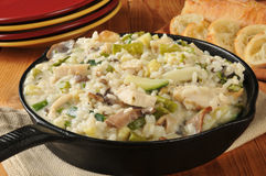 Chicken Risotto Skillet Dinner Royalty Free Stock Photo